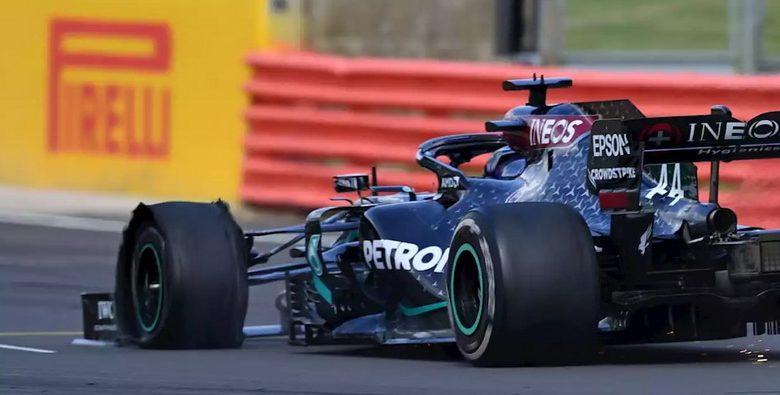 Hamilton vence GP da Inglaterra mesmo com pneu furado na última volta