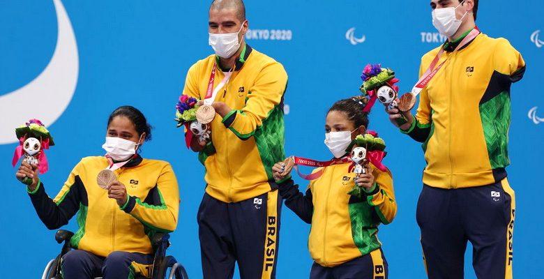 Natação: revezamento misto 4x50m é bronze Paralimpíada de Tóquio